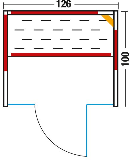 Infrarotkabine Vario Glas 125 / 100 x 126 x 195