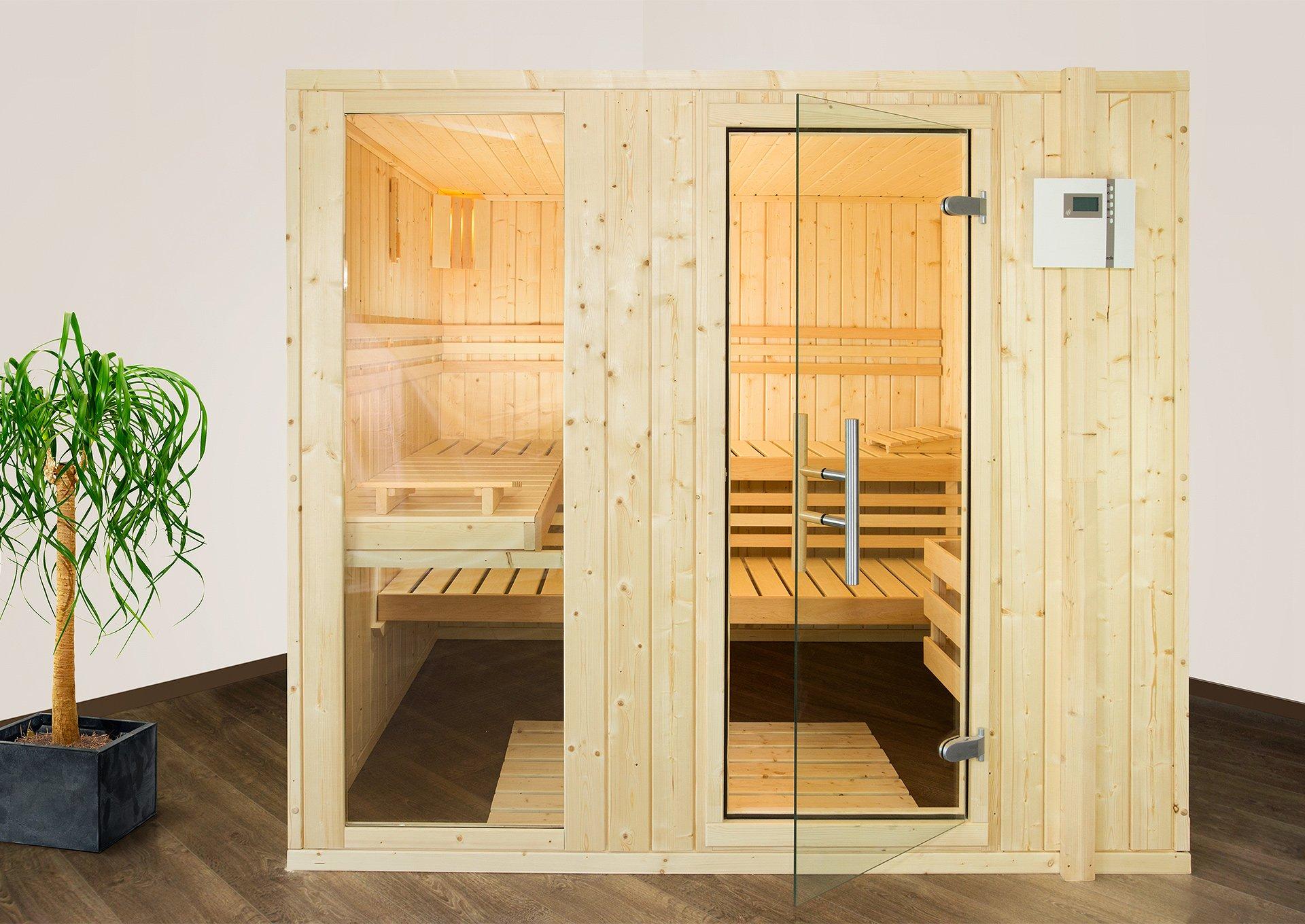 Sauna Helsinki 4 Eck inklusive Ofen