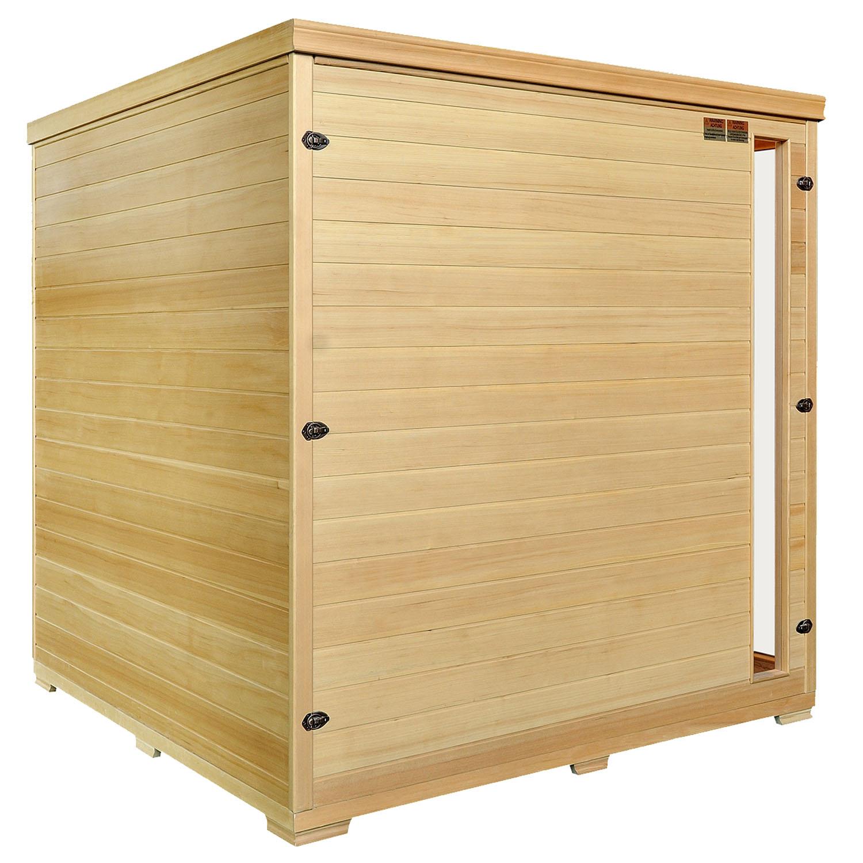 Infrarotkabine Billund mit Dual-Heizsystem und Hemlockholz 190 x 170 x 190