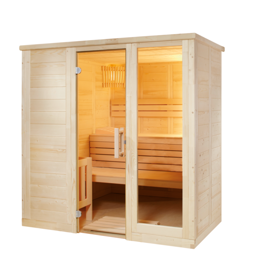 Massivsauna Komfort Small