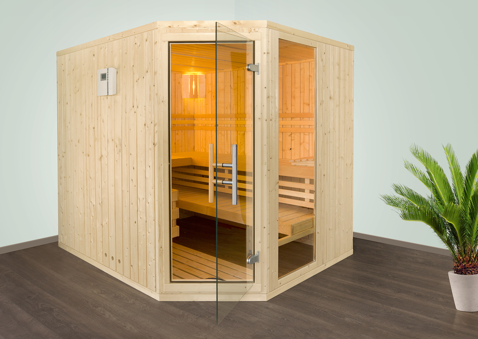 Sauna Helsinki 5 Eck inklusive Ofen