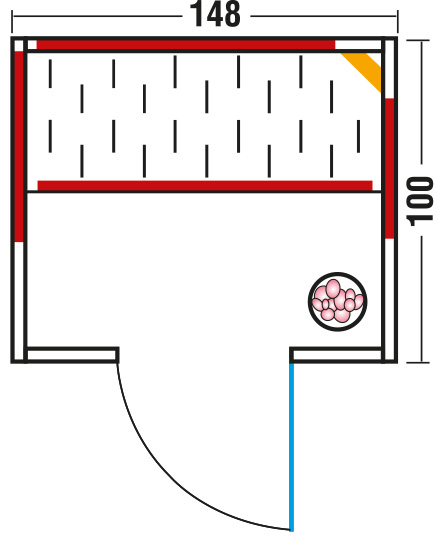 Infrarotkabine Tirosol Natura 148 / 100 x 148 x 195