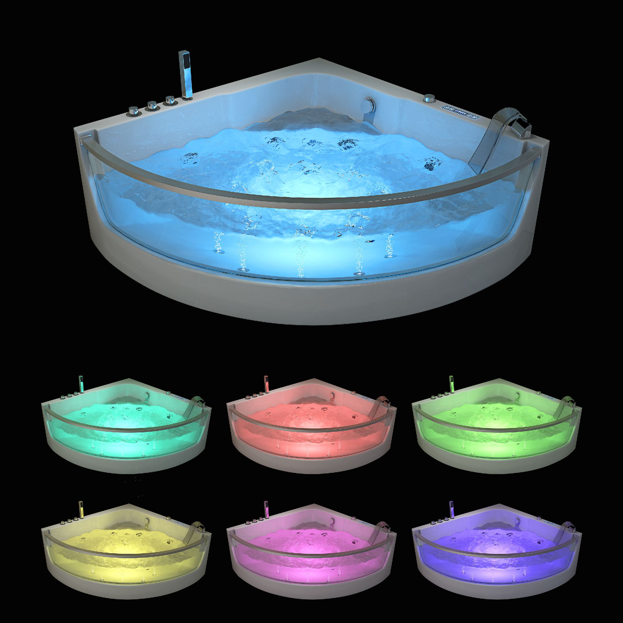 Whirlpool SAMOS 129 x 129 mit Schiene