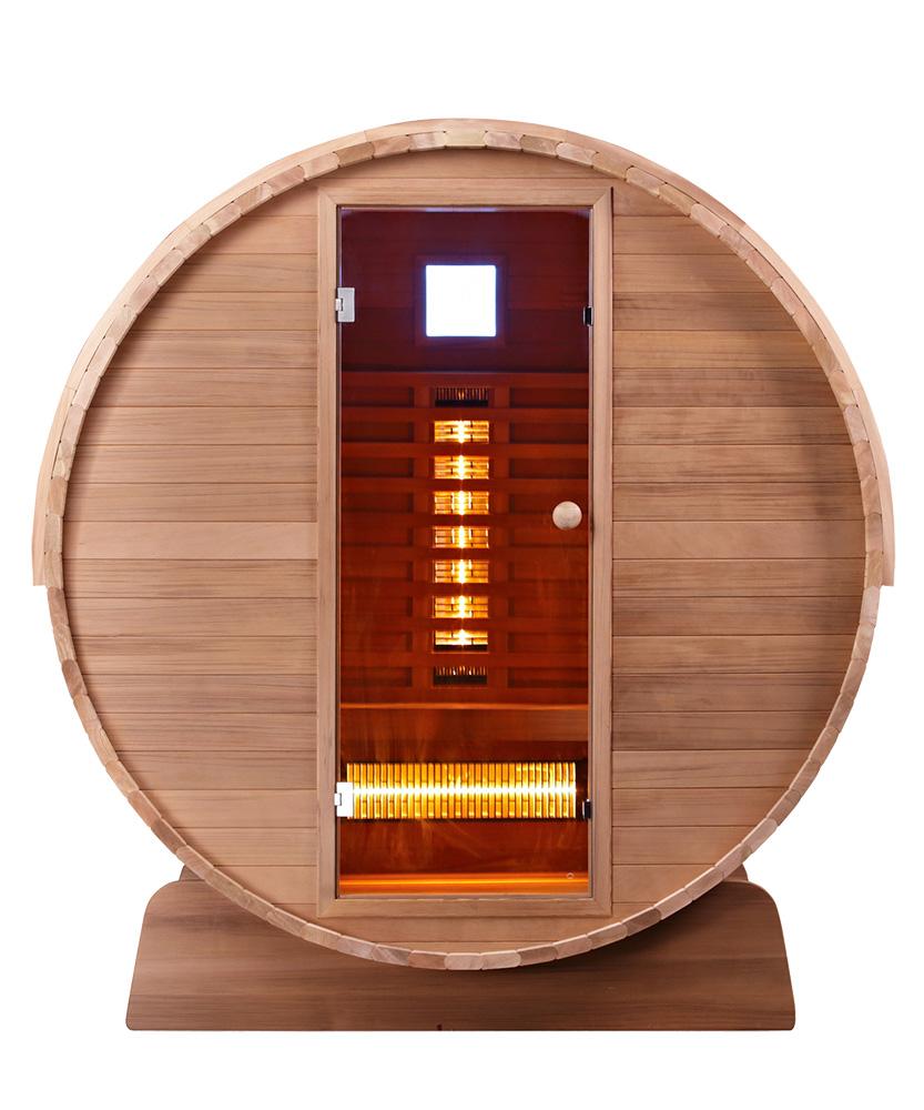 Fasssauna Infrarotkabine Barrel FS Cedar Clear, 150 x Q 197