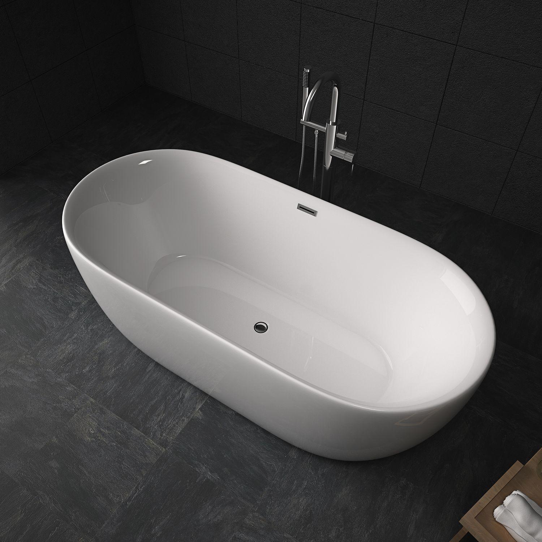 Badewanne Sifnos freistehend aus Acryl / 170 x 80