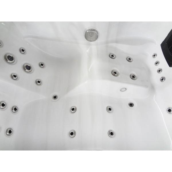 Outdoor Whirlpool Modena weiß 205 x 130 x 70 cm