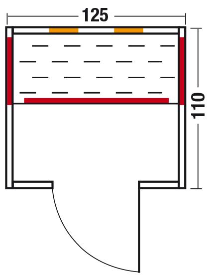Infrarotkabine Gala 125 / diverse Größen