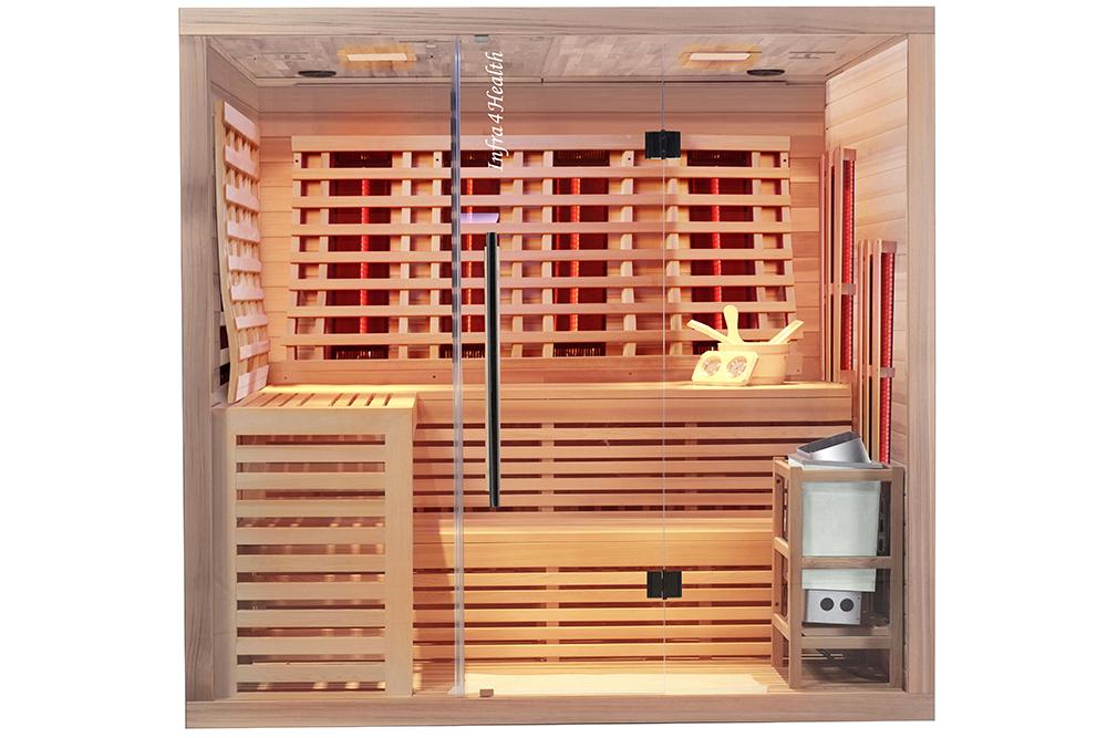 Kombi Infrarotkabine und Sauna mit Quarzstrahlern/ 220 x 200 x 210