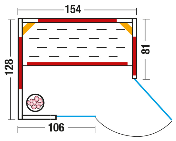 Infrarotkabine Triosol Unica 1 mit ABC Strahlern und Solevernebler