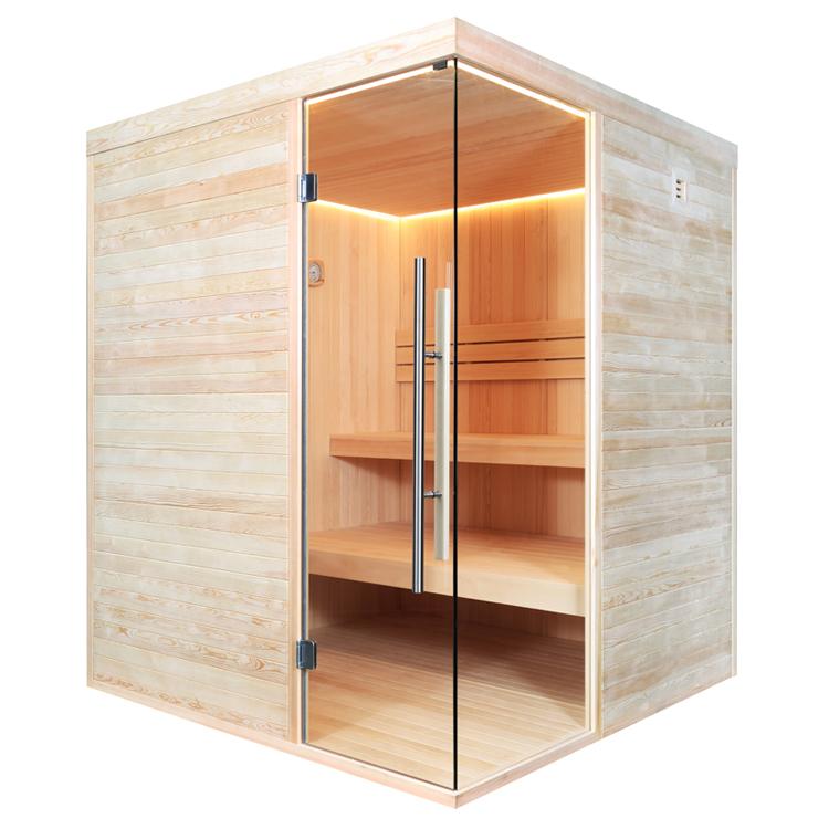 Finnische Sauna  AWT E1805 aus Pinienholz inkl. Ofen / 180 x 180