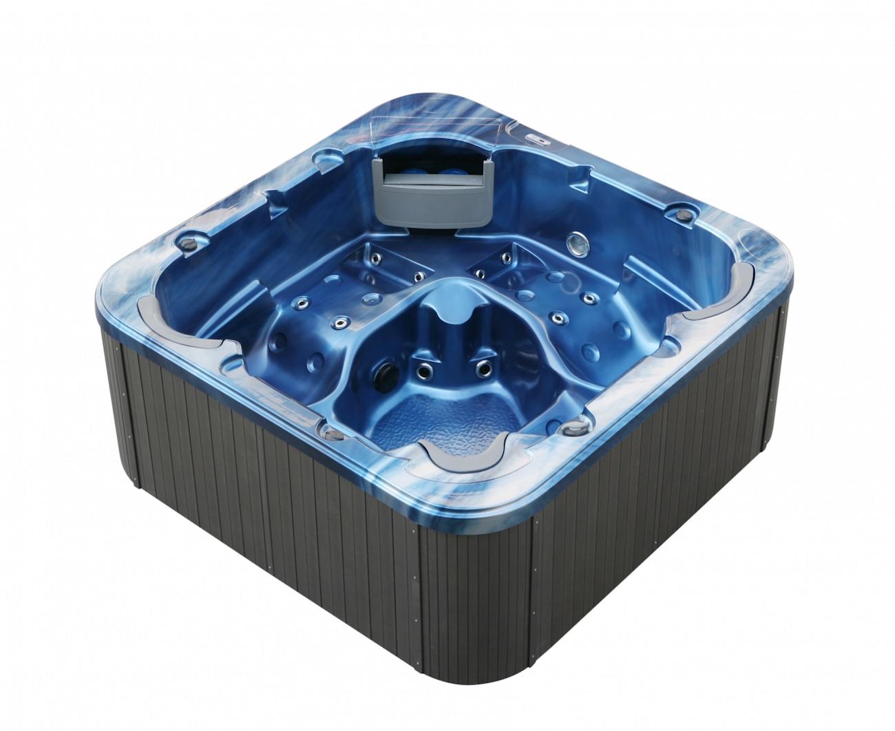 American Outdoor-Whirlpool Torina ozean blau - grau / 215 x 215