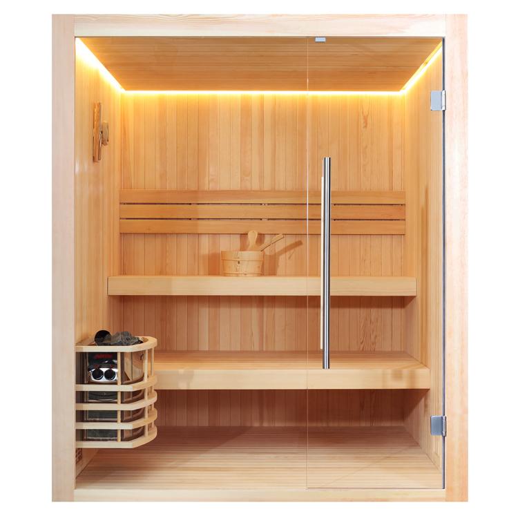 Finnische Sauna AWT E1802 aus Pinienholz / 180 x 180