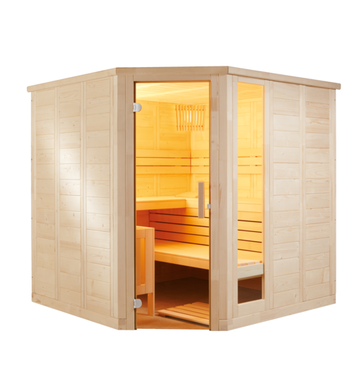 Innensauna Komfort Corner / 2060 x 2060 x 2040 mm