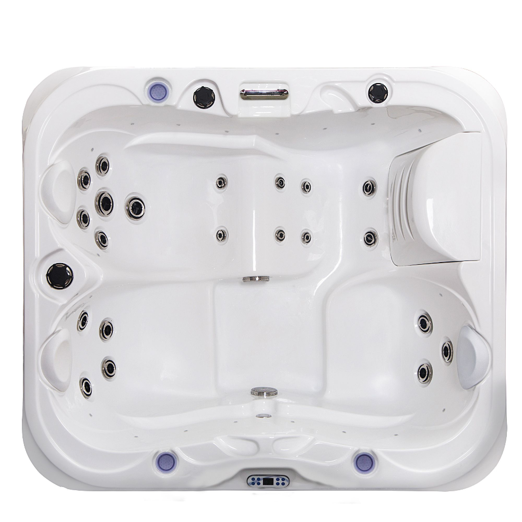 Outdoor Whirlpool VULCANO weiß 195x170
