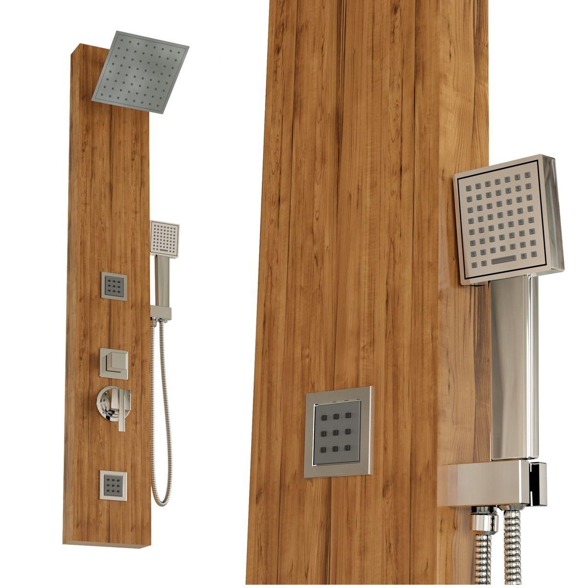 Duschpaneel ESPOO Aluminium Holzdekor