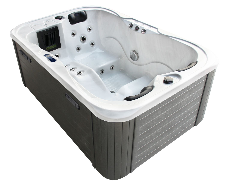 Outdoor Whirlpool Spa TINO in weiß / silber marmoriert
