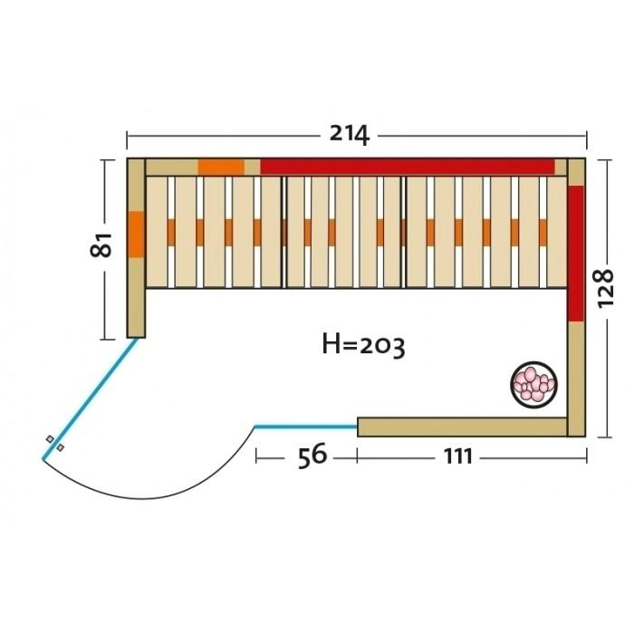 Infrarotkabine Infraworld Triosol Sera mit Liege mit Dualstrahler-System, mit Solevernebler